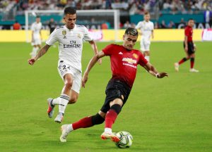 Manchester United's Andreas Pereira in action.