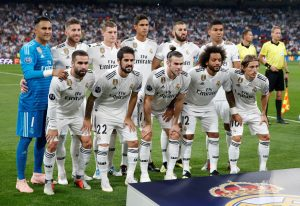 Real Madrid team group.