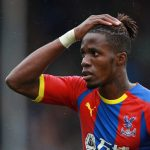Crystal Palace's Wilfried Zaha reacts.
