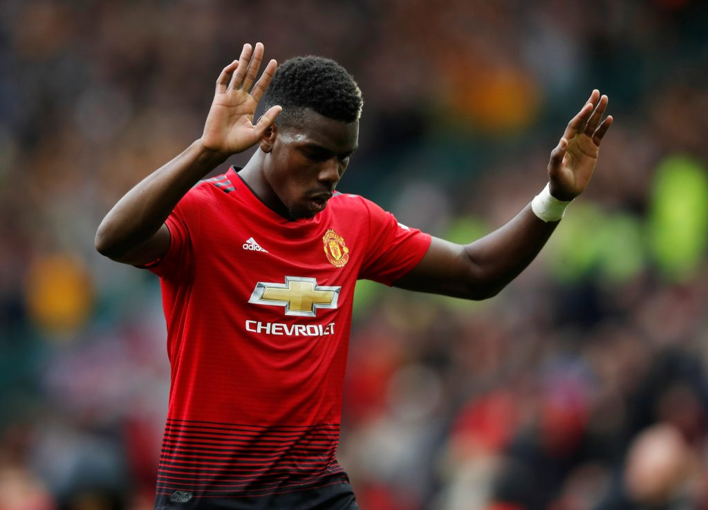 Manchester United's Paul Pogba reacts after the match.