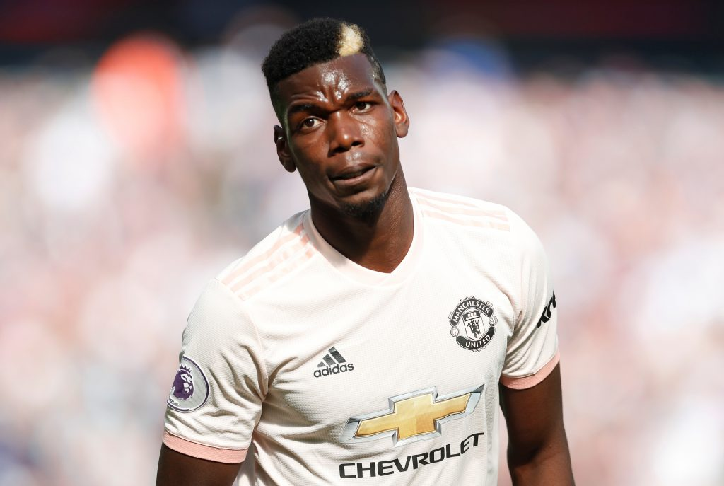 Manchester United's Paul Pogba during the match.