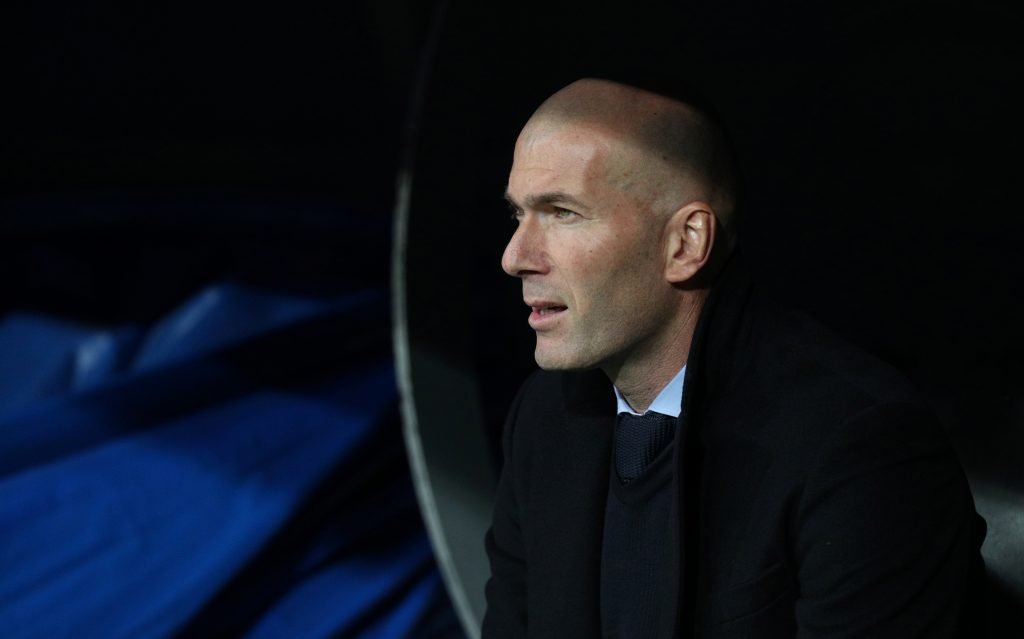 Soccer Football - La Liga Santander - Real Madrid vs Real Sociedad - Santiago Bernabeu, Madrid, Spain - February 10, 2018   Real Madrid coach Zinedine Zidane     REUTERS/Sergio Perez - RC1A67D5EC80