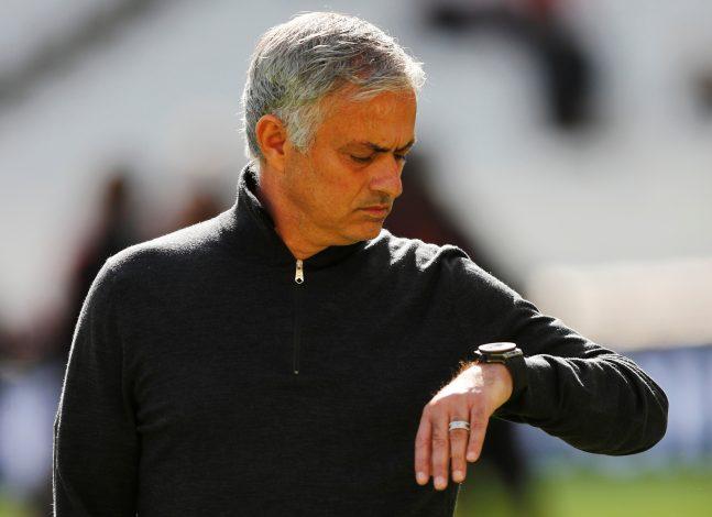 Jose Mourinho before the match.