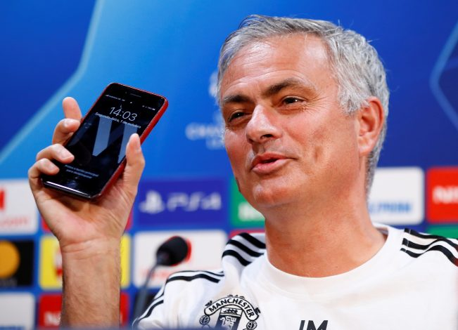 Jose Mourinho during the press conference.