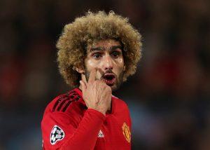 Manchester United's Marouane Fellaini.