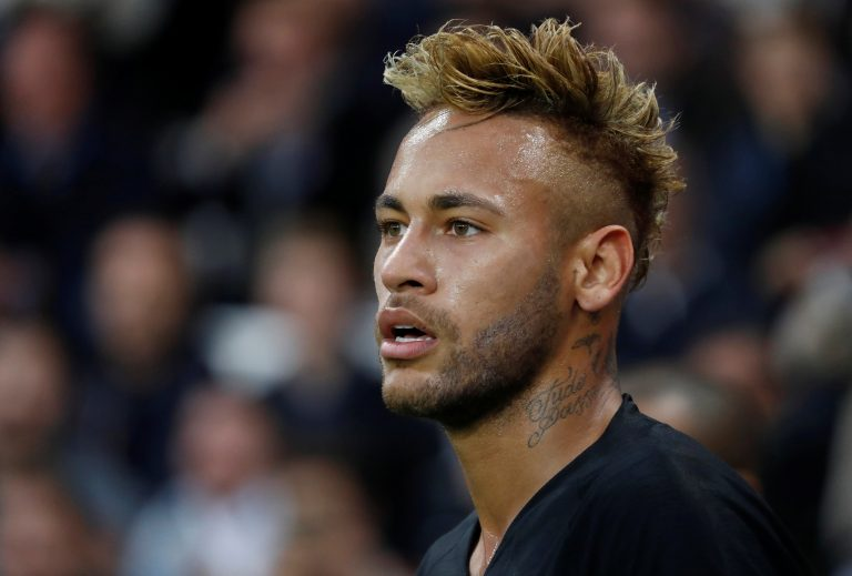 PSG's Neymar during the match.
