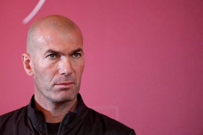 "Zinedine Zidane attends the presentation of the ""Zidane's Crystal Foot""."