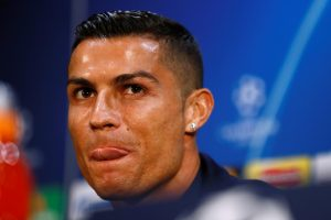 Juventus' Cristiano Ronaldo during the press conference.