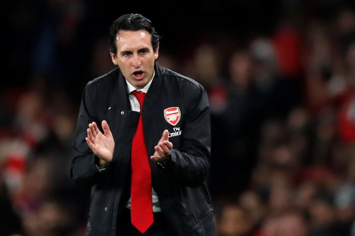 Arsenal manager Unai Emery.