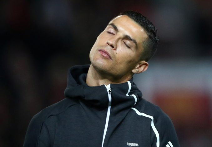 Juventus' Cristiano Ronaldo before the match.