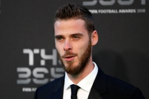 Manchester United's David de Gea before the start of the awards.