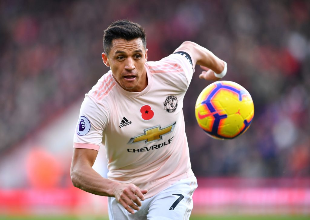 Manchester United's Alexis Sanchez in action.