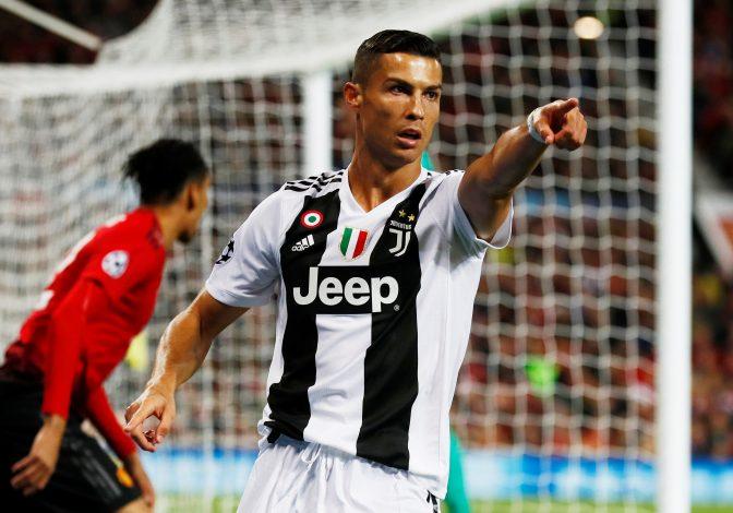 Juventus' Cristiano Ronaldo gestures.