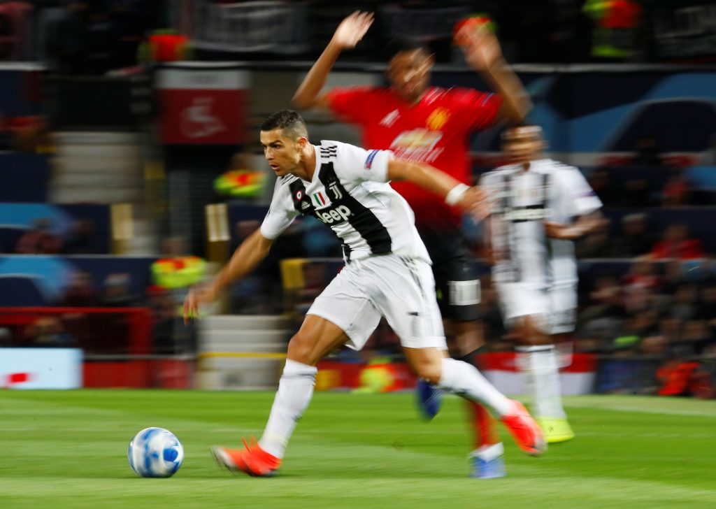 Juventus' Cristiano Ronaldo in action.