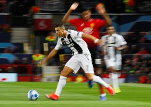 Juventus' Cristiano Ronaldo in action.