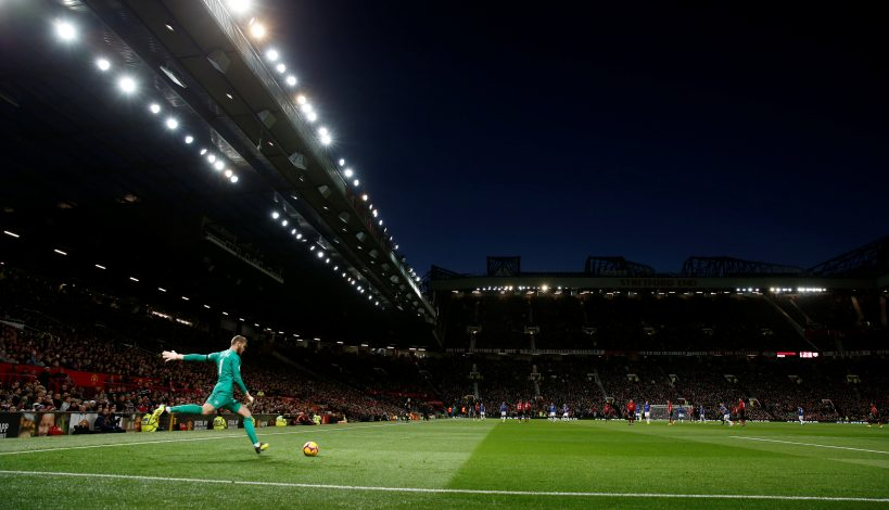 General view of Manchester United's David de Gea in action.
