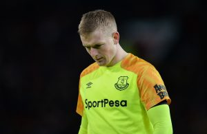 Everton's Jordan Pickford during the match.