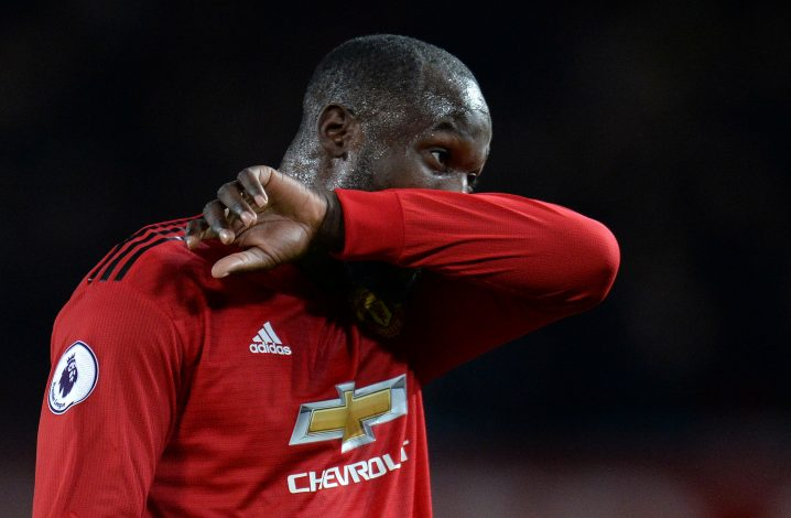 Manchester United's Romelu Lukaku after the match.