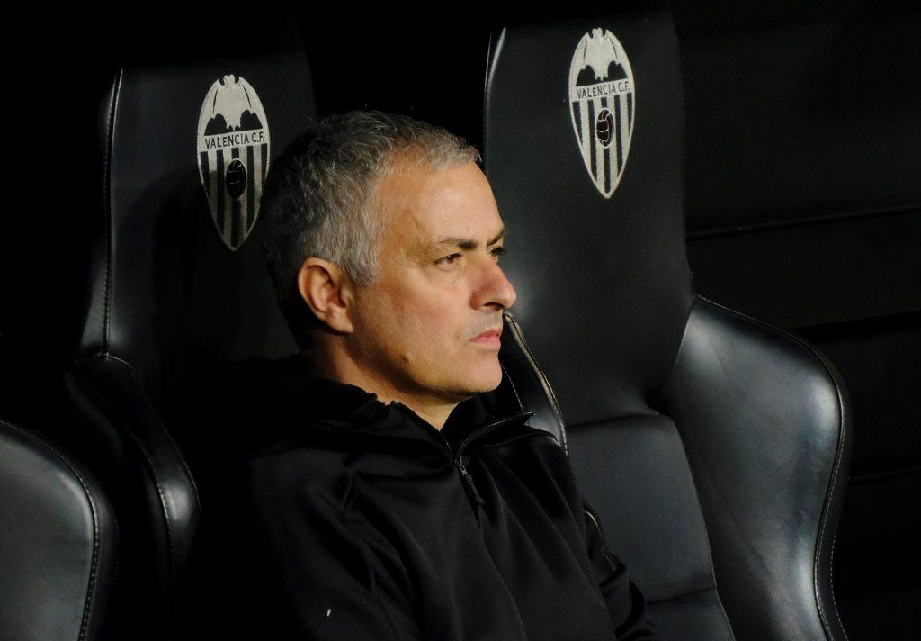Man Utd manager Jose Mourinho before the match.