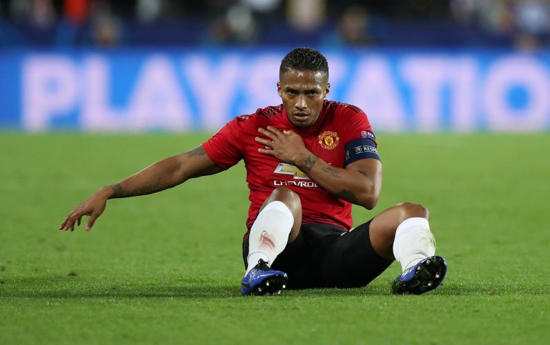 Manchester United's Antonio Valencia during the match.