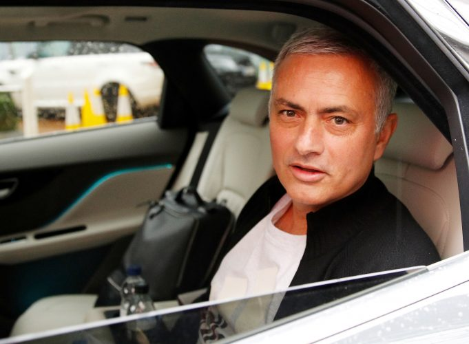 Jose Mourinho is driven away from his accommodation after leaving his job as Manchester United's manager.