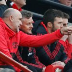 Ole Gunnar Solskjaer with assistant coaches Mike Phelan and Michael Carrick.