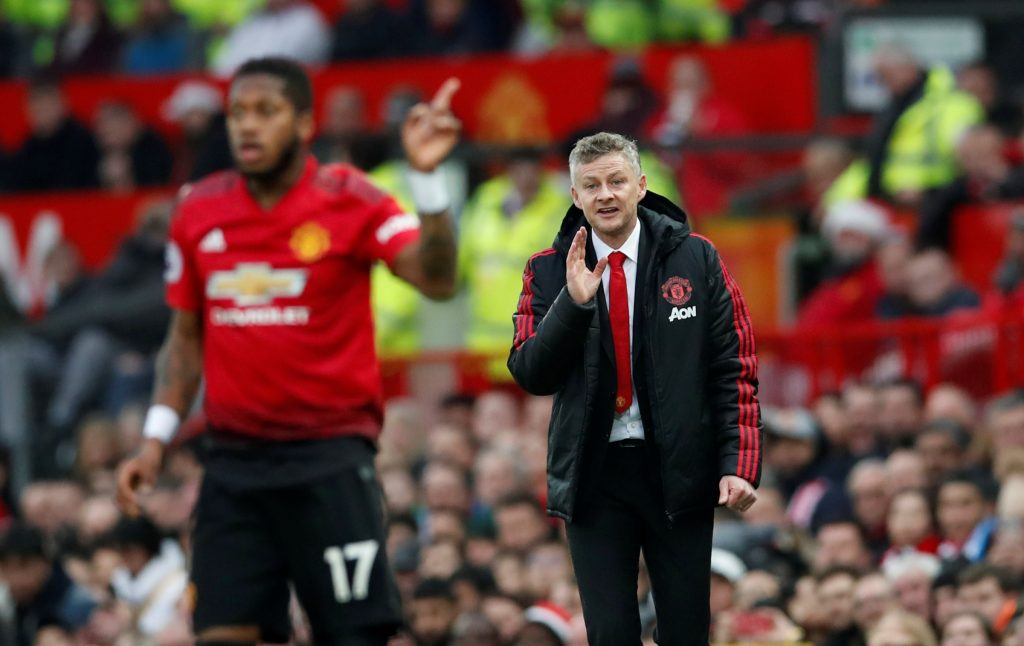 MUFC interim manager Ole Gunnar Solskjaer and Fred.