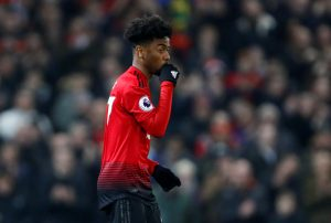Manchester United's Angel Gomes.
