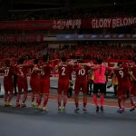 SIPG's players celebrate victory after match.
