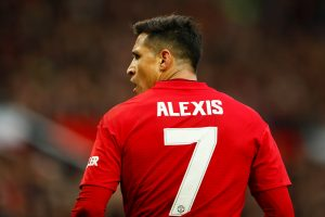 Manchester United's Alexis Sanchez during the match.