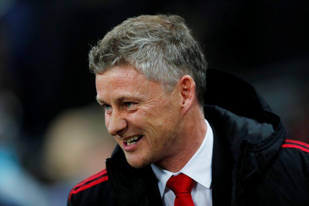Manchester United interim manager Ole Gunnar Solskjaer before the match.