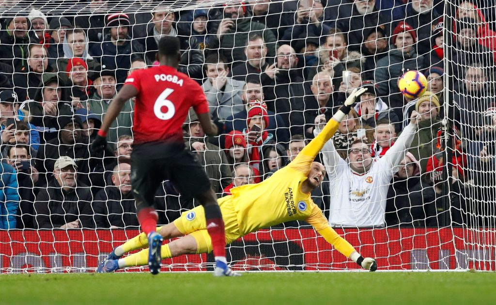 Paul Pogba scores from the penalty spot.