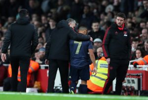 Man Utd interim manager Ole Gunnar Solskjaer with Alexis Sanchez.