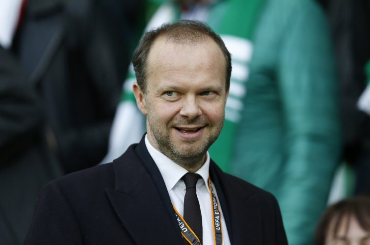 Manchester United executive vice-chairman Ed Woodward in the stands.