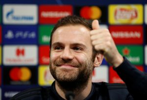 Manchester United's Juan Mata during the press conference.