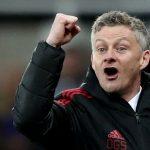 MUFC interim manager Ole Gunnar Solskjaer celebrates.