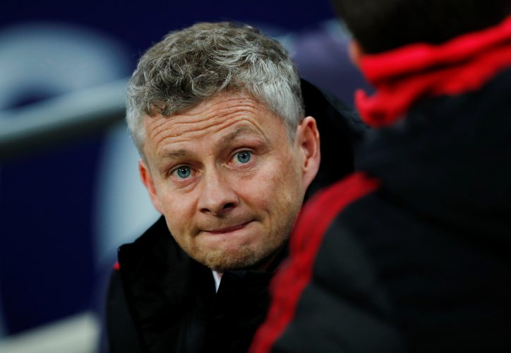 MUFC manager Ole Gunnar Solskjaer before the match.