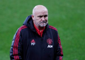 Manchester United assistant manager Mike Phelan before the match.