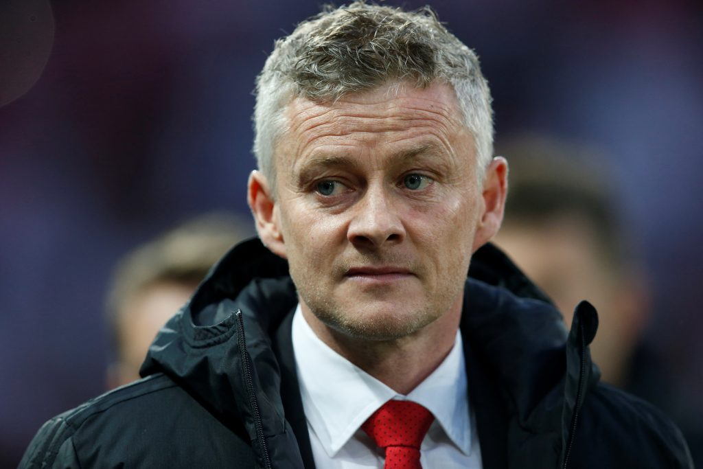 Manchester United manager Ole Gunnar Solskjaer before the match.