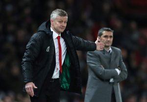 Manchester United manager Ole Gunnar Solskjaer and Barcelona coach Ernesto Valverde.