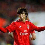 Benfica's Joao Felix celebrates scoring their first goal.
