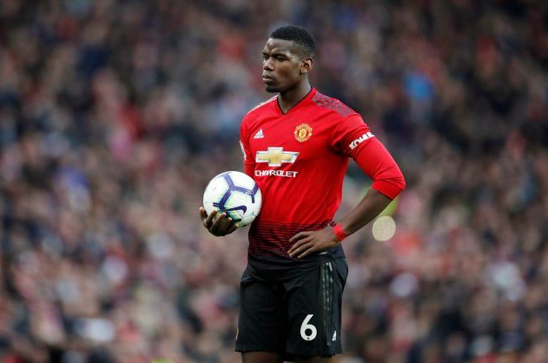 Manchester United's Paul Pogba prepares to take a penalty.