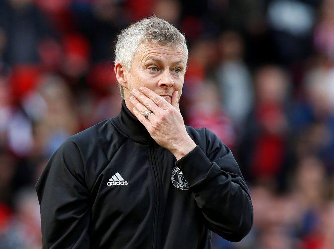 Manchester United's Ole Gunnar Solskjaer.