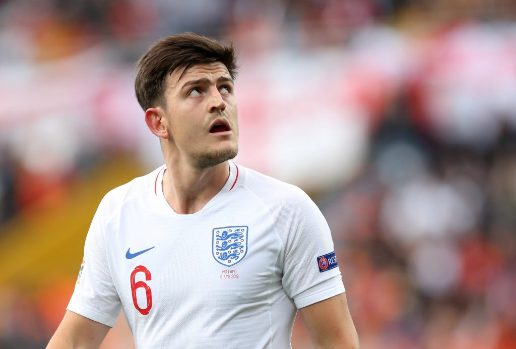 England's Harry Maguire during the match.