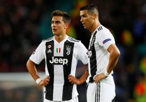 Juventus' Cristiano Ronaldo and Paulo Dybala.