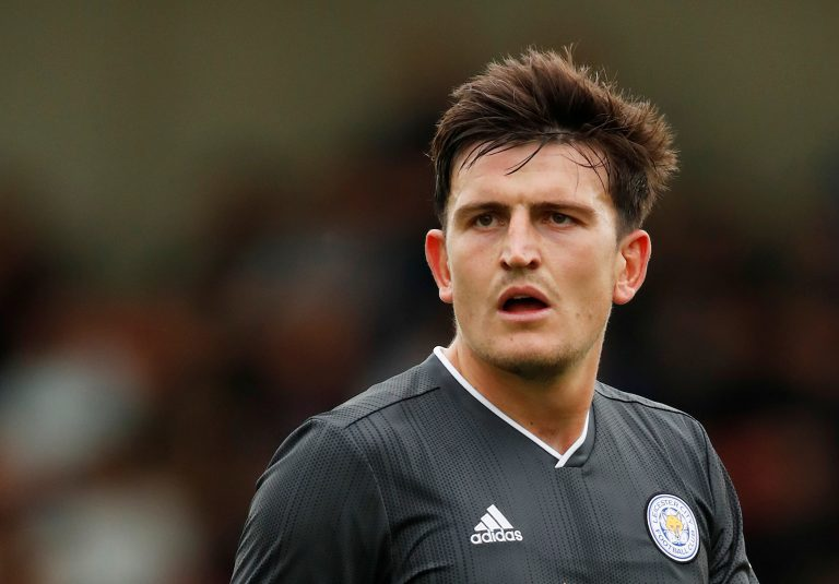 Leicester City's Harry Maguire during the match.