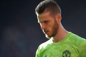 Manchester United's David de Gea during the match.