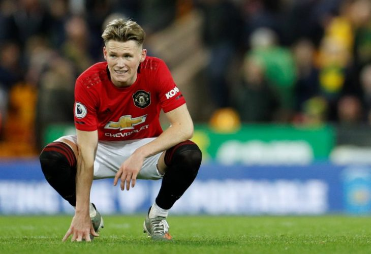 Manchester United's Scott McTominay at the end of the match.