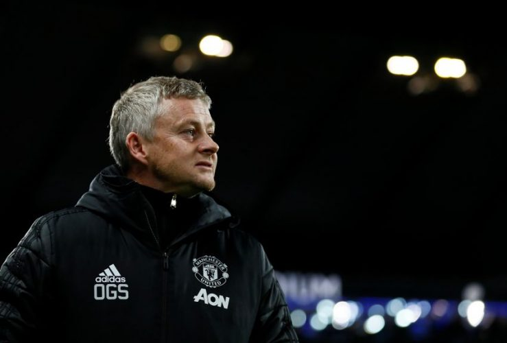 Man United manager Ole Gunnar Solskjaer reacts.