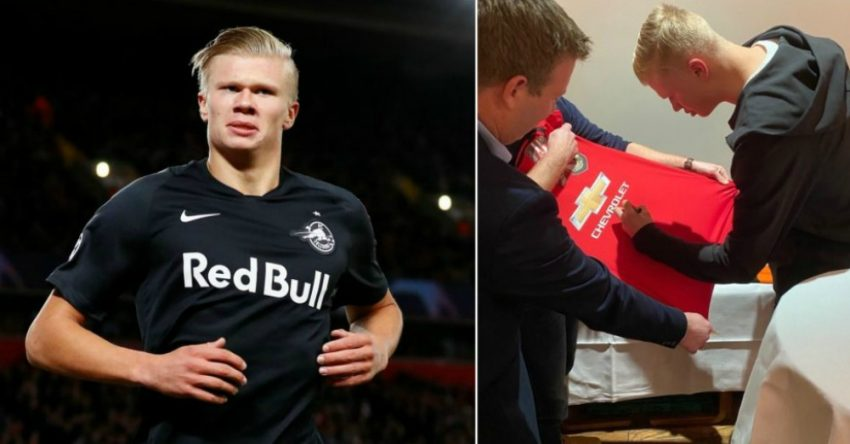 Why Erling Haaland Signed Manchester United Shirt